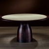 THOMAS ROUND_MOKA STAINED WALNUT_GRIGIO STRIATO MARBLE