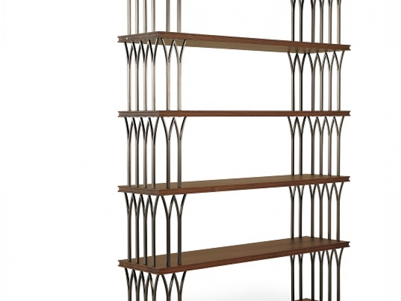 EIFFEL_BOOKCASE_DARK STAINED WALNUT_NERO BELLAVISTA