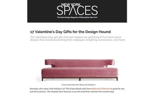 BELLAVISTA'S GRACE WOOD SOFA FEATURED IN NEW YORK SPACES //  USA