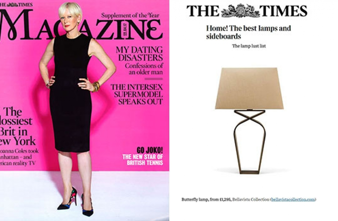 BUTTERFLY LAMP FEATURED IN THE TIME MAGAZINE // UK and ON THE TIMES ONLINE // UK