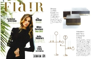 STRAPP COFFEE TABLES FEATURED IN FLAIR // UAE