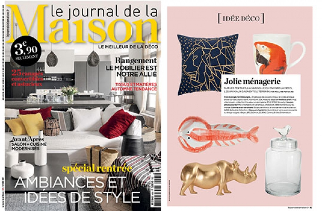 RINO FEATURED IN LE JOURNAL DE LA MAISON // FRANCE