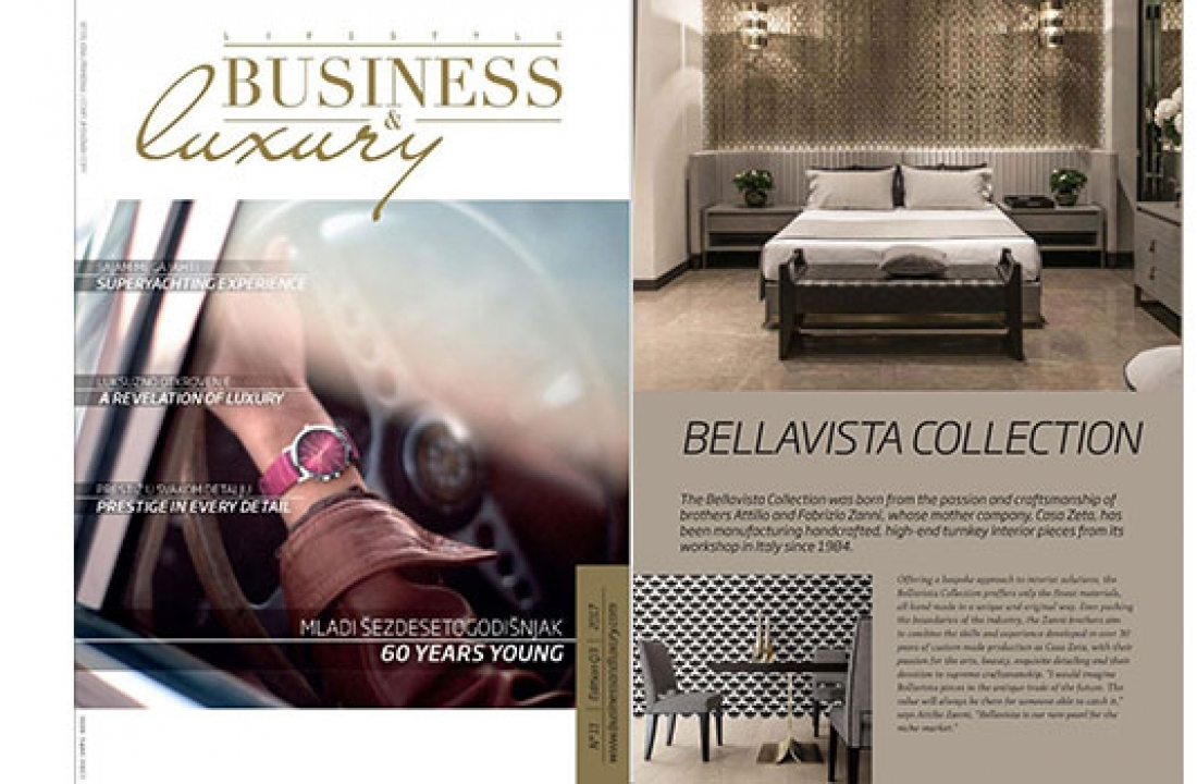 ALEXANDRA PR – BELLAVISTA COLLECTION PROFILE FEATURE IN BUSINESS & LUXURY // SERBIA