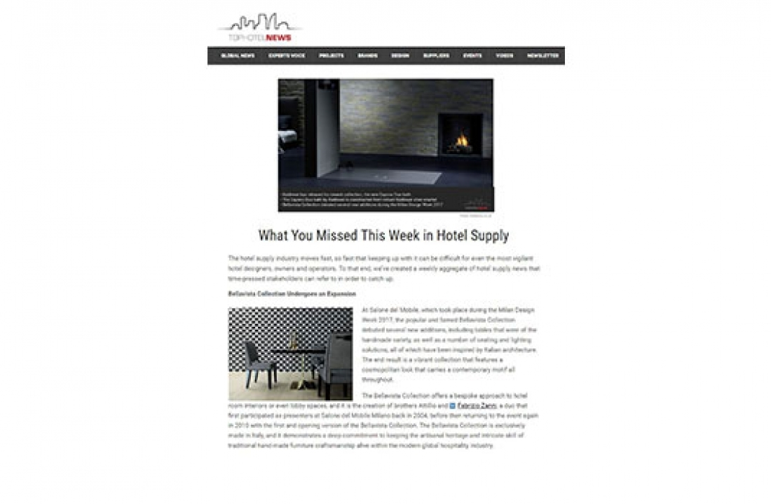 BELLAVISTA COLLECTION FEATURED IN TOP HOTEL NEWS // GERMANY