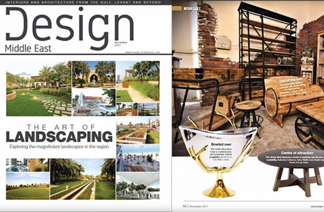 SAN FRANCISCO ROUND DINING TABLE FEATURED IN DESIGN MIDDLE EAST // UAE