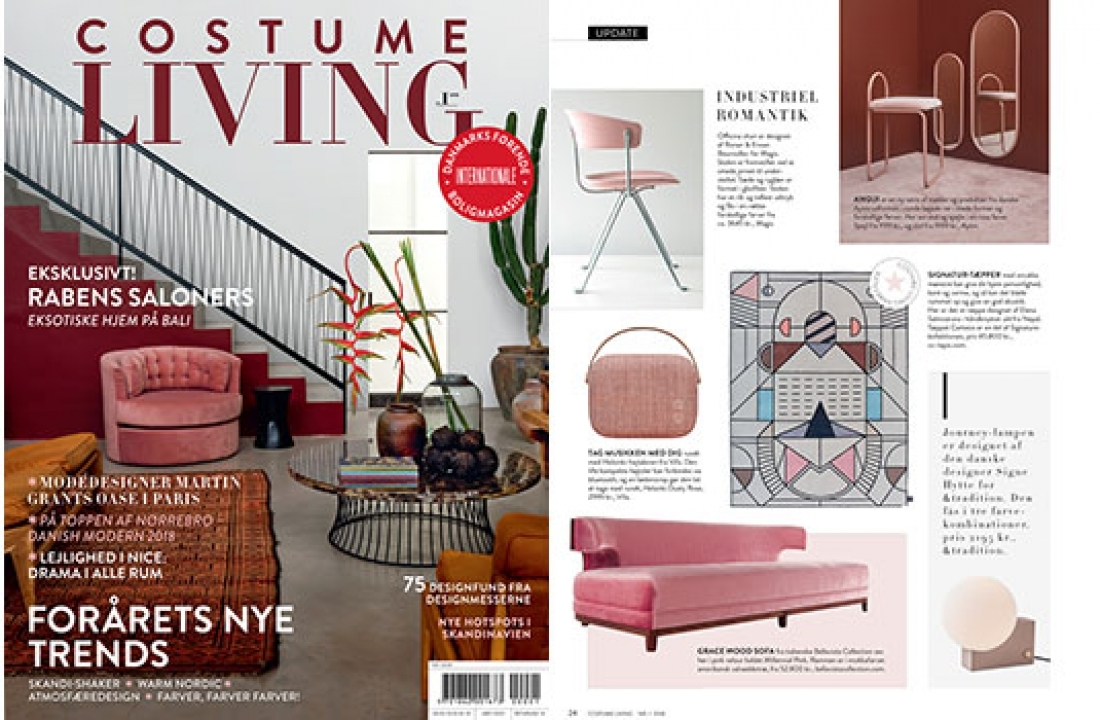 GRACE WOOD SOFA FEATURED IN COSTUME LIVING // DENMARK