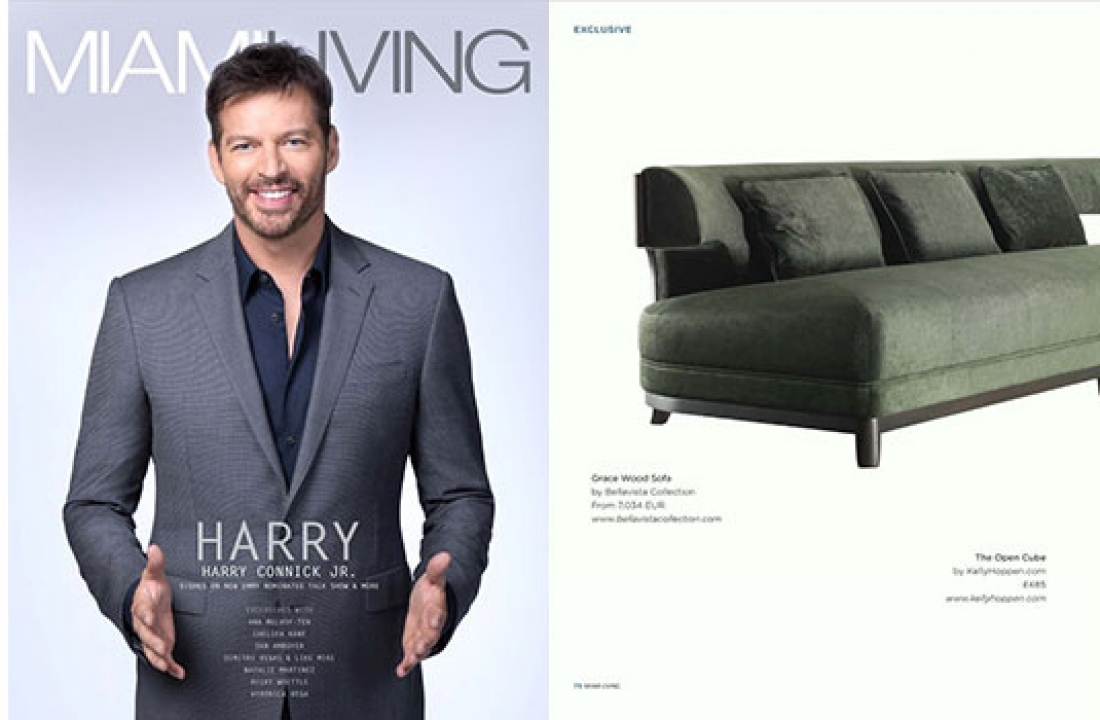 ANGELINA WOOD + GRACE WOOD SOFA FEATURED IN MIAMI LIVING // USA