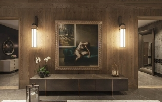 Blending a TV into a Room: Low Cabinets and Wall Paneling from Bellavista Collection