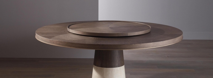 Every Meal Becomes a Feast: Bellavista Collection Offers Dining Tables with a Lazy Susan